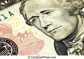 banknote, dollar, zehn