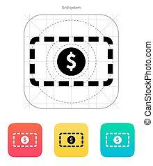 Banknote icon. Vector illustration.