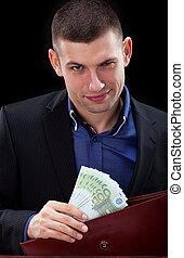 banknoten, geschäftsmann
