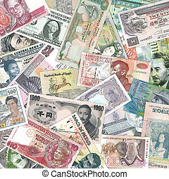 A selection of banknotes