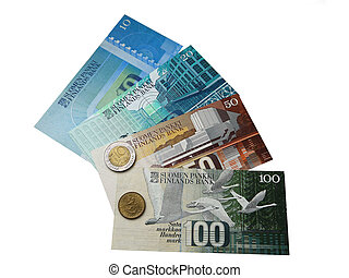 Banknotes and coins of Finland to