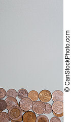 Banknotes and coins on the table