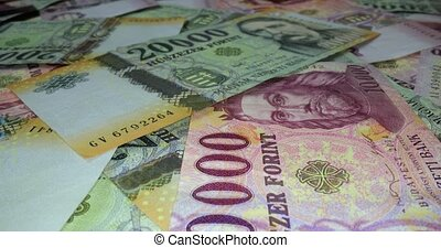 Banknotes Background, Hungarian Forints - Pile of banknotes ...