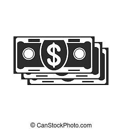 banknotes, czarnoskóry, ikona