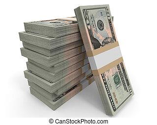 banknotes, dwadzieścia dolara, tło.