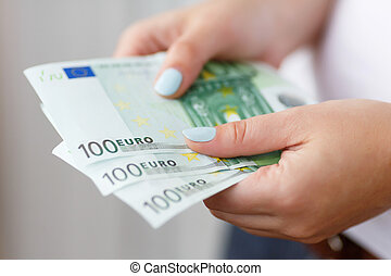 Banknotes in hands