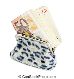 Banknotes in purse