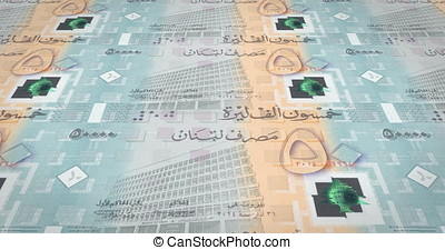 Banknotes of fifty thousand lebanese pounds of Lebanon, cash...