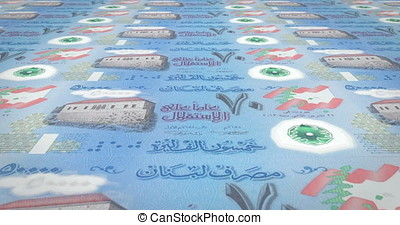 Banknotes of fifty thousand lebanese pounds of Lebanon...