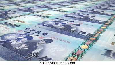 Banknotes of one thousand taiwanese dollars of Taiwan...