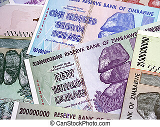 Banknotes of the state of Zimbabwe of large denominations