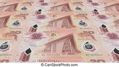 Banknotes of twenty papua New Guinean kina of Papua New...