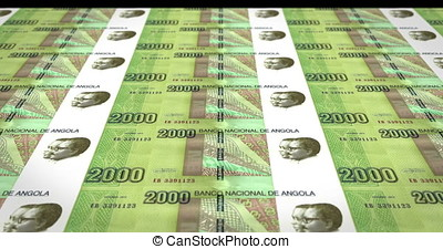Banknotes of two thousand angolan kwanza of the Republic of...