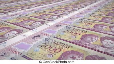 Banknotes of two thousand paraguayan guarani of Paraguay,...