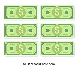 banknotes, rysunek, dolar