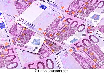 banknotes, tło, euro
