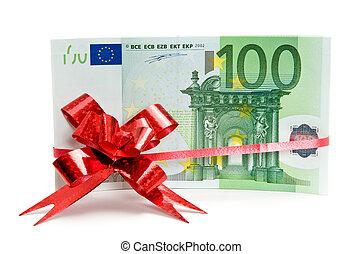 Banknotes with ribbon