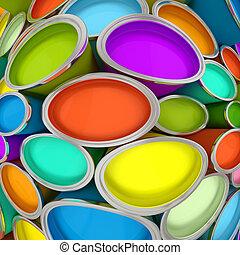 bankot használ, festék, 2, többszínű