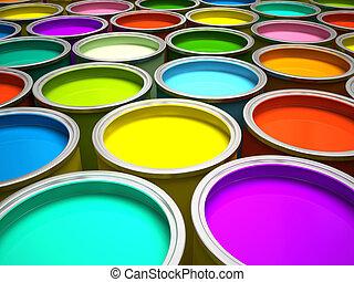 bankot használ, festék, 3, vakolás, többszínű