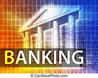 bankovnictví, ilustrace