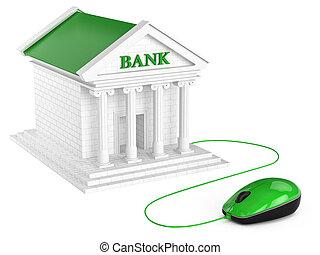 bankowość, concept., internet, account.