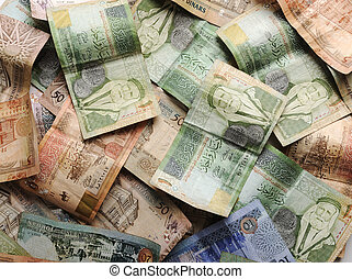 bankpapier, geld, arabische