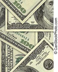 bankpapier, honderd, rekeningen, dollar, ons