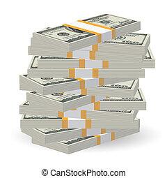 bankpapier, stapel