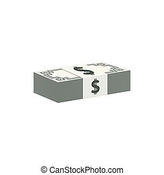 bankpapier, valuta, stapel, dollar symbool
