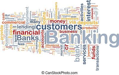 bankrörelse, bakgrund, begrepp