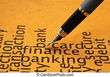 bankrörelse, finans