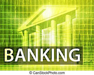 bankrörelse, illustration