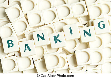 bankrörelse, ord, gjord, av, leter, styckena