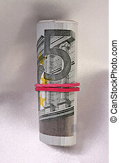 Bankroll - 5 Euro bill as a bankroll