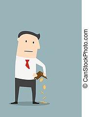 Bankrupt businessman with empty wallet - Bankruptcy, ...