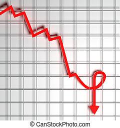 Computer generated bankrupt conceptual image