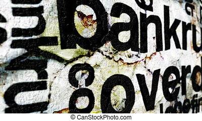 Bankrupt overdue grunge concept