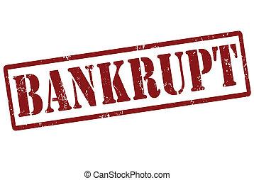 Bankrupt grunge rubber stamp on white, vector illustration