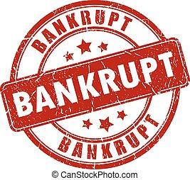 Bankrupt stamp - Bankrupt rubber stamp on white background