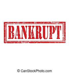 Bankrupt-stamp - Grunge rubber stamp with word...