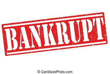 Bankrupt stamp - Bankrupt rubber stamp on white, vector...