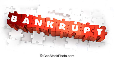 Bankrupt - White Word on Red Puzzles. - Bankrupt - White ...