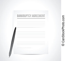 bankruptcy agreement documents. illustration
