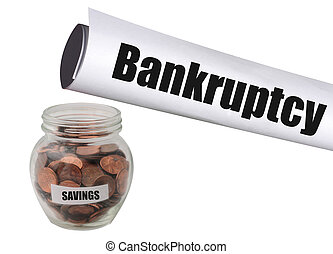 Bankruptcy and no savings - running out of savings and...