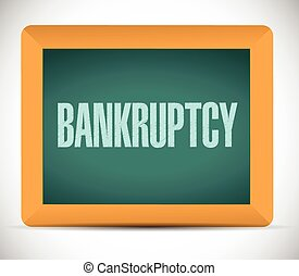 bankruptcy board sign illustration