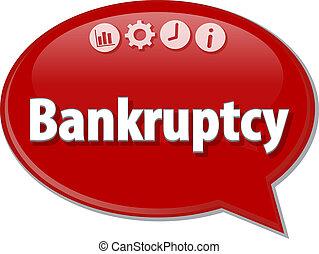 Bankruptcy   Business term speech bubble illustration