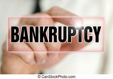 Bankruptcy button on virtual screen.