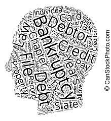 Bankruptcy Chapter Or Chapter text background wordcloud concept