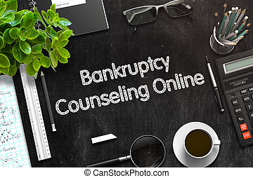 Bankruptcy Counseling Online Concept. 3D render.