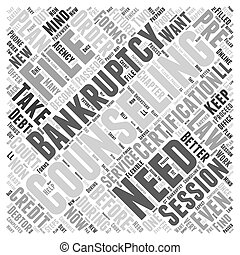 Bankruptcy Counseling Word Cloud Concept